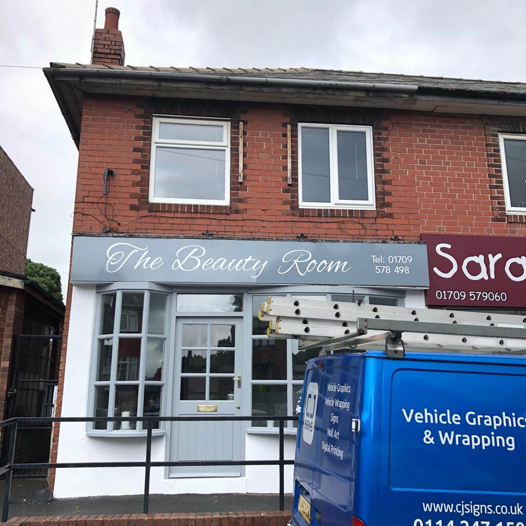 The Beauty Room Signage After